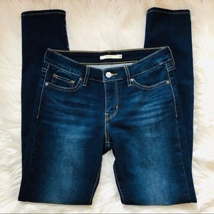 Levi's 711 dark wash skinny jeans